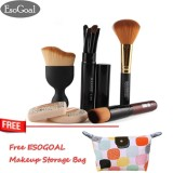 The Cheapest Esogoal 10Pcs Makeup Brushes Professional Hair Powder Foundation Cleaning Eyebrow Face Puff Brush Pen Make Up Brushes Sets Intl Online