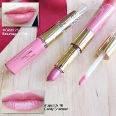 Buy Estee Lauder Lip Gloss Lipstick Duo No 16 Candy Shimmer No 26 Extravagant Pink On Singapore