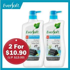 Sale Eversoft Anti Bacterial Shower Foam Bundle Protect Purify 800Ml X 2 Eversoft Cheap