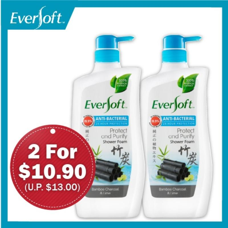 Buy Eversoft Anti-bacterial Shower Foam Bundle (Protect & Purify) 800ml x 2 Singapore