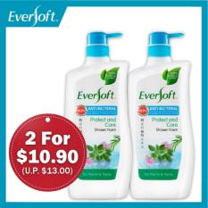 Best Deal Eversoft Anti Bacterial Shower Foam Bundle Protect Revitalise 800Ml X 2