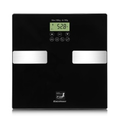 Top Rated Excelvan Touch 400 Lb Digital Body Fat Scale With Tempered Glass Platform Bf1201C1 Gl 01 Black Intl