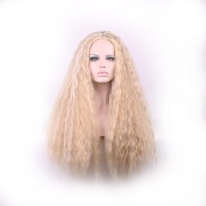 Fashion Long Curly Women High Quality High Temperature Fiber Hair Full Wig Golden Intl In Stock