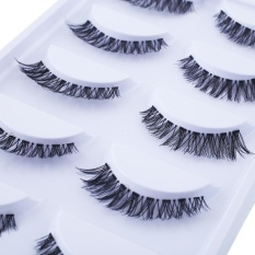 Fashion Long Thick Cross 5 Pairs Beauty False Eyelashes Extension Beauty - Intl By Mingrui.