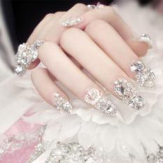 Price Mimosifolia Fashion Women Bride Banquet Party Beauty Artificial Nails Finger 24Ps Intl Mimosifolia Original