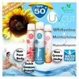 Best Rated Fay Jardin Uv Cut Whitening Nano Mist Sunscreen Spray Spf 50 150Ml Absorbed In 3 Seconds Only Non Sticky Non Greasy