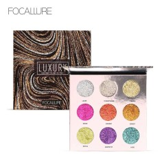 Review Focallure Professional 9 Colors Makeup Eyeshadow Palette Eye Shadow Bright Glitters Makeup Lips Face Glitter Palette Intl China