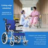 Promo Folding Medical Wheelchair 16 Inch Manual Mobility Aid Light Weight 4 Brakers Intl