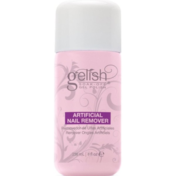 Buy Harmony Gelish Acetone Soak Off Gel Nail Remover Cum Normal Nail Polish Remover 8oz - Rose Scent plus nail care Singapore