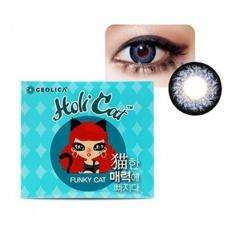 Compare Prices For Geolica Degree Holicat Funky Blue Color Contact Lens