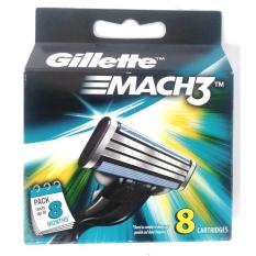 Gillette Mach 3 Cartridges Pack Of 8 X 3 (24 Cartridges) By K And K Impex.
