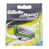 Gillette Mach3 Turbo Sensitive Razor Catridges 4S On Line