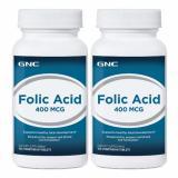 Sale Gnc Folic Acid 400 100 Vegitabs X 2 Bottles Gnc On Singapore