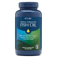 Gnc Triple Strength Fish Oil 120 Softgels Exp 2021 By Qq Wellness.