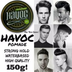 Sale Havoc Waterbased Hair Styling Pomade 150Ml Strawberry Scent Easy Washable Strong Hold High Shine Pomade Original