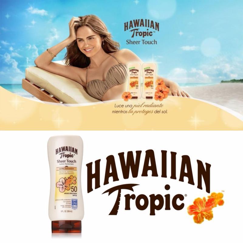 Buy Hawaiian Tropic Sunscreen Sheer Touch Broad Spectrum Sun Care Sunscreen Lotion SPF 50 236ml(Pack of 2) - intl Singapore