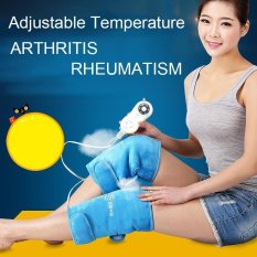 Health Care 1 Pair Electric Heating Knee Pads Far Infrared Magnetic Therapy Arthritis Rheumatism 220V 30W Adjustable Temperature Intl Price Comparison
