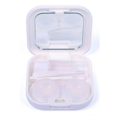 Hight Quality Store New Mini Travel Cute Cartoon Beard Shape Contact Lens Case Box Container Holder