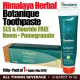 Himalaya Herbal Healthcare Botanique Toothpaste 150G 1 Tube Neem Pomegranate Fluoride Free Sodium Lauryl Sulfate Sls Free Cheapest In Sg Promo Code