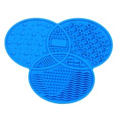 Hot Sale Clover Shaped Silicone Makeup Brushes Cleaning Mat Pad With Skidproof Sucker Blue Intl China
