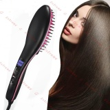 Hot Sale Professional Automatic Straightening Irons Comb With Lcd Display Electric Straight Hair Comb Straightener Iron Brush Black Intl Reviews
