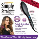 【Hot】Professional Automatic Straightening Flat Iron With Salon 3D Ceramic Bristles Lcd Display Electric Straight Hair Comb Brush Intl Coupon