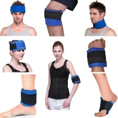 Ice hot cold gel pack wrap head shoulder knee neck wrist calf injury pain relief - intl