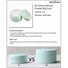 Best Price Innisfree No Sebum Mineral Powder 15G Big Size ★ Korean Cosmetics