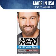 Best Price Just For Men Brush In Color Gel For Moustache Beard And Sideburns Medium Brown