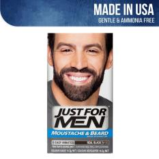 Just For Men Brush-In Color Gel for Moustache, Beard and Sideburns - Real  Black