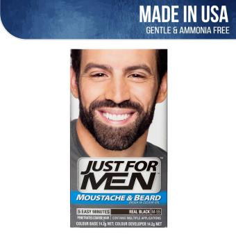 Just For Men Brush-In Color Gel for Moustache Beard and Sideburns - Real Black