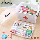 Sale Jvgood Household Medical Cabinet Box Empty First Aid Kit Plastic Storage Pill Cases With Separate Compartments Size M 33 5X24X17 7 Cm Intl Jvgood On China
