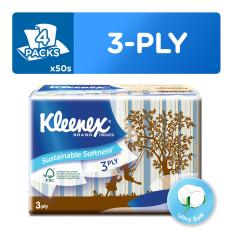 Kleenex Soft Pack Facial Tissue Vintage 4x50sheets. By Kimberly Clark Official Store.