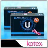 Cheap Kotex Applicator Tampons Regular 16Pcs X 2 Packs