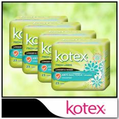 Buy Cheap Kotex Fresh Liners Anti Bacteria Ultrathin Unscented Longer Wider 23Pcs X 4 Packs
