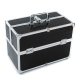 Discount Large Cosmetic Organizer Box Make Up Case For Make Up Tools Lockable Black Containing Storage Box Export