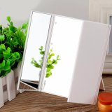 For Sale Led Makeup Cosmetic Dressing Mirror Folding Table 90 Degree Adjustable Stand Unique Triple Off The Door Design With 8 Led Lights White Intl