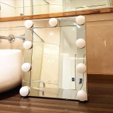 Best Price Led Vanity Lighted Hollywood Makeup Mirror With Lights Dimmer Stage Beauty Touch Intl