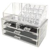Discount Leegoal Acrylic Cosmetic Organizer Jewelry Storage Makeup Organizer Display Boxes Clear Singapore