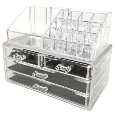 Sale Leegoal Acrylic Cosmetic Organizer Jewelry Storage Makeup Organizer Display Boxes Clear Singapore