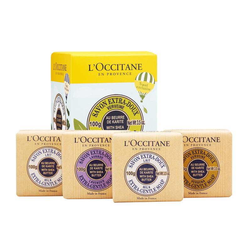 Buy LOccitane Shea Butter Extra-Gentle Soap Quartet 1set, 4pcs (EXPORT) Singapore