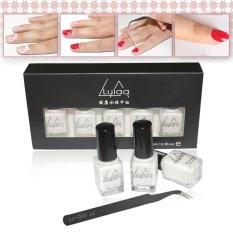 Lulaa 5pcs/set Peel Off Liquid Tape Latex Tape Peel Off Base Coat Nail Art Wh - Intl By Erpstore.
