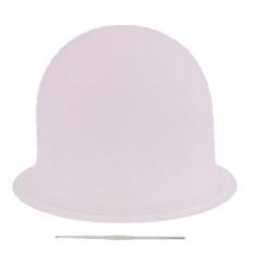 Magideal Reusable Salon Highlighting Dye Hair Coloring Frosting Cap + Metal Hook Pink - Intl By Magideal.