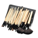 Coupon Make Up For You Portable Professional Cosmetic Makeup Brushes Set Black Yellow 32 Pcs