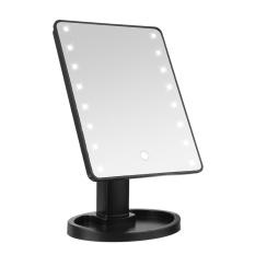 Make Up Vanity Illuminated 180° Desktop Table Makeup Stand Mirror 16 Led Light Black Intl Price