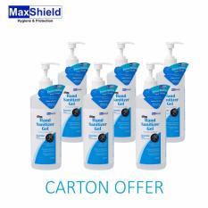 Review Maxshield Hand Sanitizer Gel Alcohol Hand Rub 6X500Ml Maxshield On Singapore