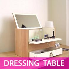 Price Comparison For Mini Dressing Table Makeup Cosmetic Organizer With Mirror