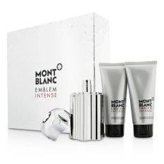 Discount Mont Blanc Emblem Intense Coffret Eau De Toilette Spray 100Ml 3 3Oz Shower Gel 100Ml 3 3Oz After Shave Balm 100Ml 3 3Oz 3Pcs Mont Blanc Hong Kong Sar China