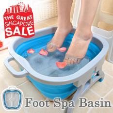 Discount Multipurpose Foot Spa Basin Foot Bath Foot Massage Blue Color Oem On Singapore