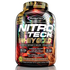 Review Muscletech Nitrotech 100 Whey Gold 5 53Lbs Double Rich Chocolate Muscletech On Singapore